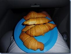 Croissant in de auto