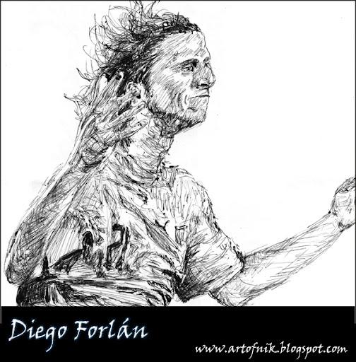 Diego Forlán Sketch
