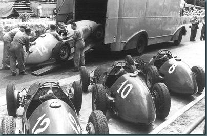 1952 french gp - ferrari team