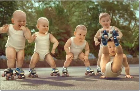 Take a look at the video. Look at the gang of infants breakdancing and