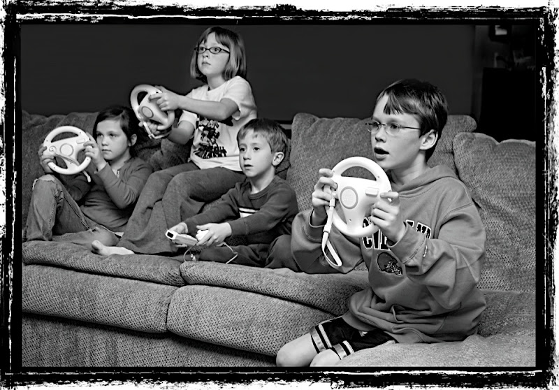 Children from Ohio playing Wii Mario Kart - Titled Generation Next