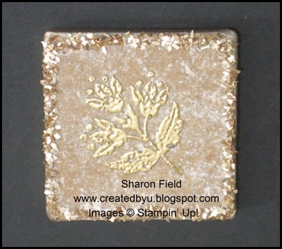 Created By You Glass Glitter Magnet