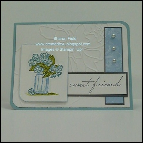 On The Grow, Summer Mini Catalog, Water Coloring, Design Team, Clean and Simple, Sharon Field