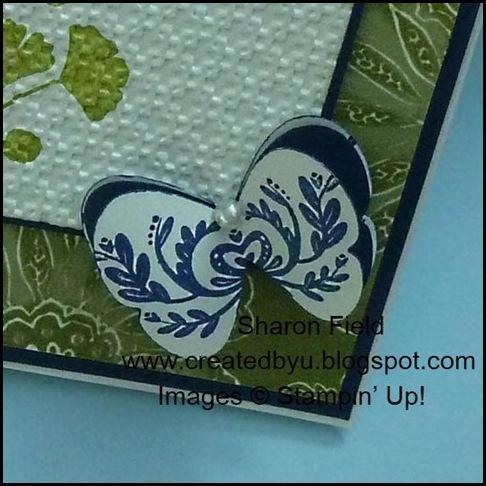 1st Wednesday Card Club, Designer Series Paper, Sharon field, 3-d, Butterfly
