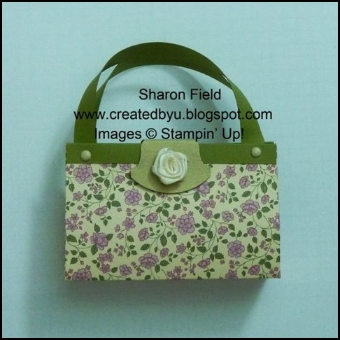 1st Wednesday Card Club, Designer Series Paper, Purse, 3d, Frenchiestamps