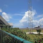 Flughafen von Huahine mit Flugzeug