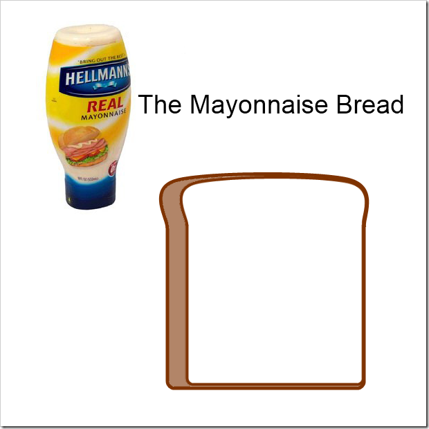 mayonnaise bread