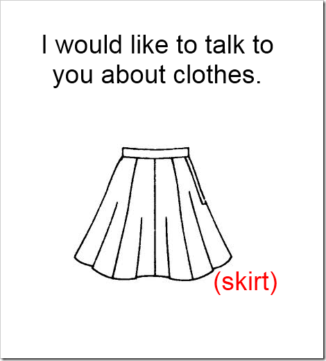 like to talk about clothes