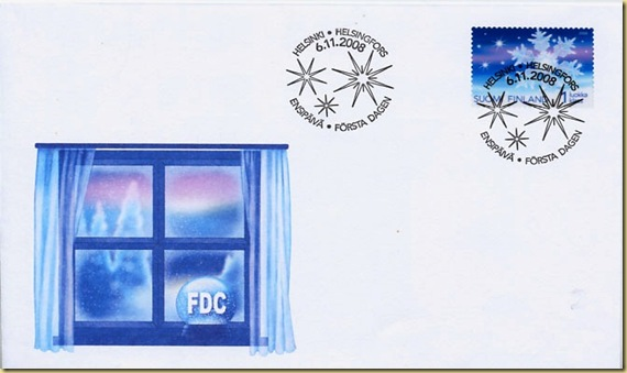 Finland plastic transparent stamp FDC