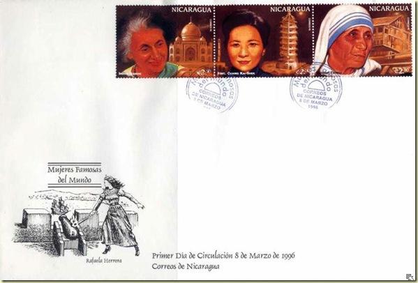 Nicaragua-96 - Indira, Mother Teresa & Taj