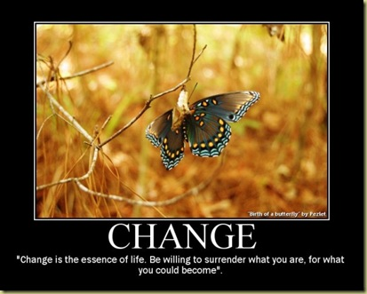 butterfly change poster