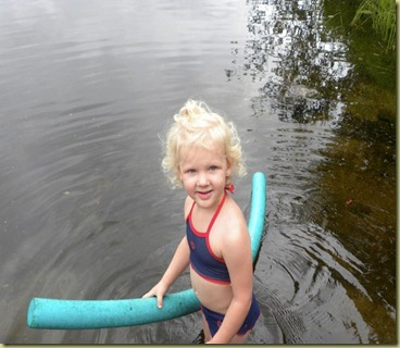 Nevaeh swimming