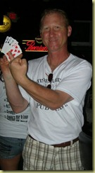 gerry holding up his cards