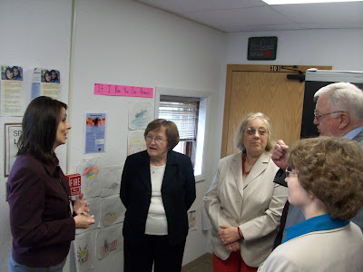 (Left to Right) Stewart Principal Rhoda Harris, Lt. Governor Patty Judge, State Senator Becky Schmitz, WCSD Supt. Dave Sextro and WCSD Board Member Pattie Roe (KCII NEWS)