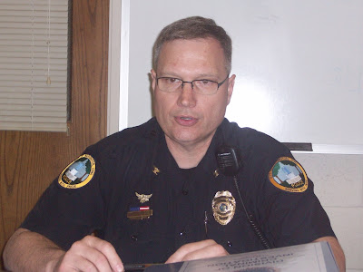 Washington Police Chief Greg Goodman lays out plans to step up enforcement of liquor laws on Friday April 16, 2010 (KCII NEWS)