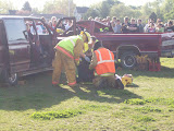 Rescue workers pull victims from the crash