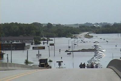 Flooding. Columbus Junction, Iowa