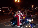 Santa arrived in Washington at the end of the 15th annual Lighted Holiday Parade. He tells KCII he rode the bike so the Reindeer could rest up for the big day.