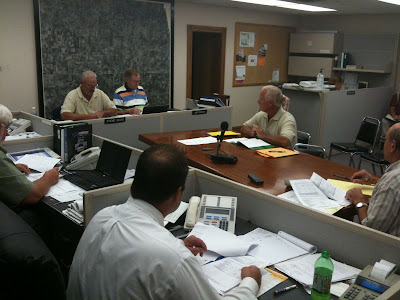 Executive Director Steven Anderson Gives Supervisors A Report On Washington County Conservation.<br /> (KCII's Chance Dorland)