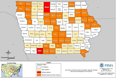 More Than 50 Iowa Counties Are Now Eligible For Federal Disaster Relief Assistance.<br /> (fema.gov)