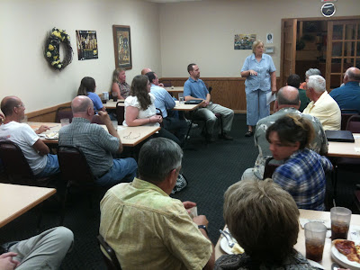 State Senator Becky Schmitz Was The First Speaker At &quot;Meet The Candidates Night&quot; Hosted By Free County.<br /> (KCII's Chance Dorland)