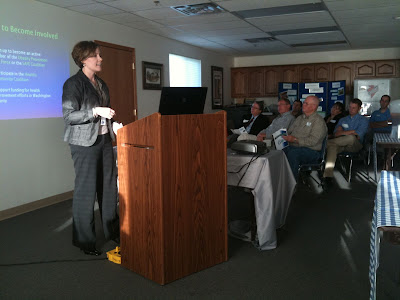 Washington County Public Health Director Chrystal Woller Explains The County's New Five Year Health Plan.<br /> (KCII's Chance Dorland)