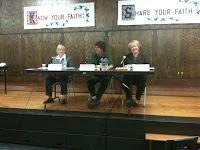 Iowa Senate District 45 Candidates Becky Schmitz (D), Douglas Phillips (Iowa) and Sandy Greiner (R).<br /> (KCII's Chance Dorland)