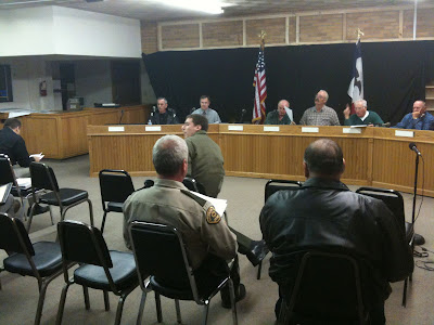 Last Week's Joint Meeting Of The E911 Services And Communications Board.<br /> (KCII's Chance Dorland)
