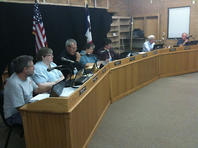 Washington's City Council At Wednesday's Meeting.<br /> (KCII's Chance Dorland)