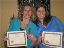 Melanie Huschka and Joni Huisenga Photo courtesy:  Washington County Communications Center