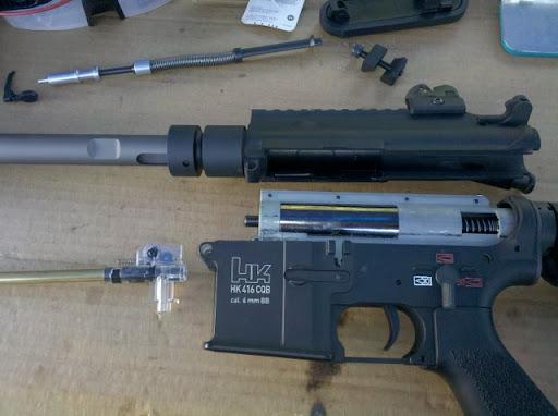 Airsoft Guns, hop-up chamber, VFC, H&K,416, Heckler & Koch, Airsoft AEG, Umarex, Pyramyd Air