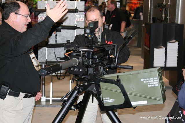 shot show 2011, NSSF Shot Show, Booth Babes, Heckler & Koch, H&K, HK, Mk19 40mm Grenade Launcher
