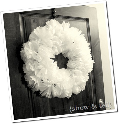 Spring Tissue Paper Wreath Sweet Pickins Furniture