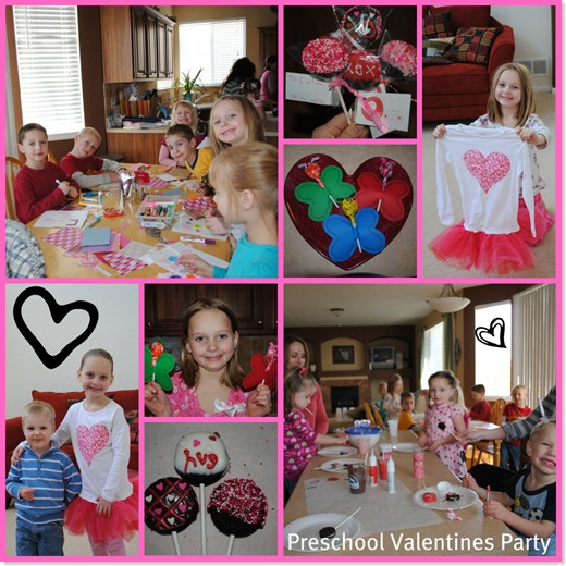 Preschool Valentine Party collage
