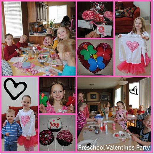 Preschool Valentine Party collage