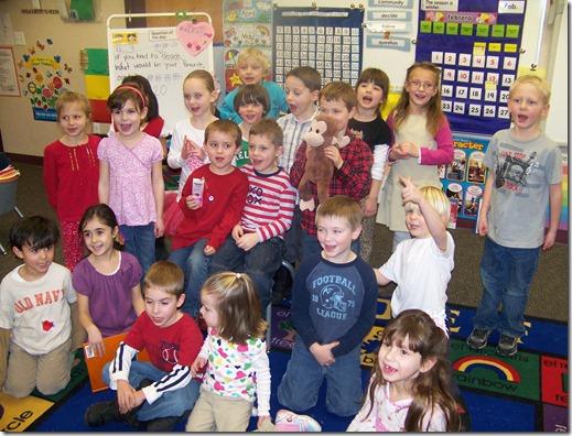 Halle's kindergarten class
