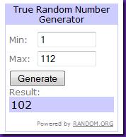 random number 102