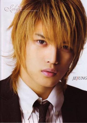 Kim Jae Joong Hairstyles brown hairstyle