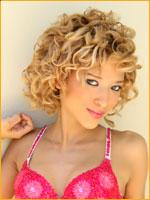 curly style blonde
