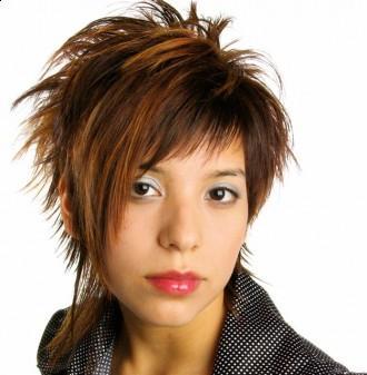 Medium short layered hairstyle 2010