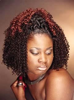 Medium length twist hairstyle for black women