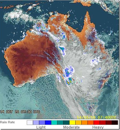 Rain over Australia 14th October 2010 7_30pm