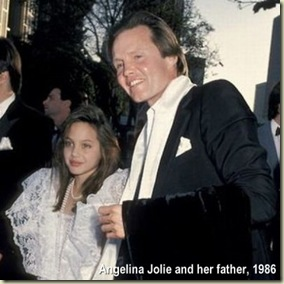 Angelina Jolie and father
