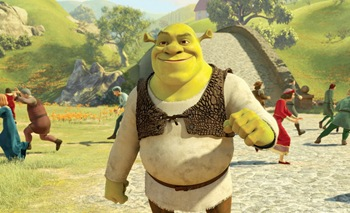 Longing for the old days, Shrek (MIKE MYERS) wonders what it would be like to stroll through the village of Far Far Away and frighten all the townspeople in DreamWorks 
