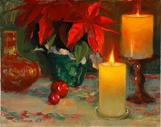 William Schneider _Poinsettia and Candlel_