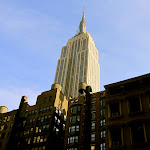 The Empire State Building with a nice blue sky
