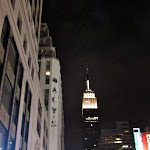The Empire State Building by night from Macy's