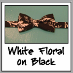 white floral on black