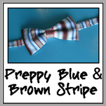 preppy blue & brown