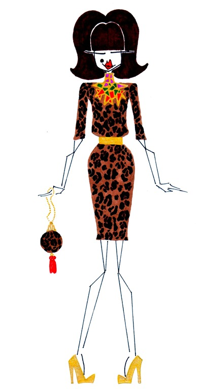 11 Dolce & Gabbana   Alexander McQueen necklace, both form fall 2010   brian atwood gold heel and a christian louboutin sphere bag
